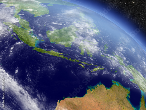 Keuken foto achterwand Nasa Indonesia from space
