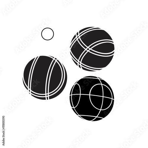 Bocce Balls flat Icon - Vector Wallpaper Mural