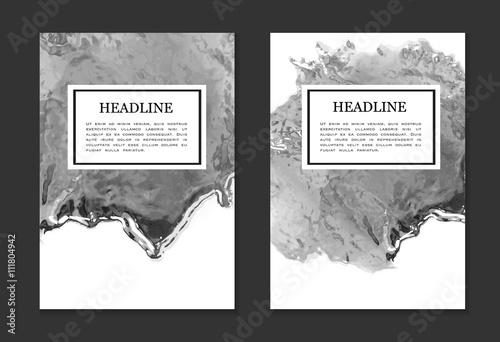Design template with liquid metal texture for book cover, poster, annual report