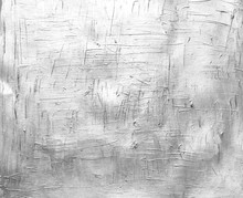 Painted Canvas Texture, Silver Color On Paper