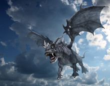 Dragon Attacking From The Sky