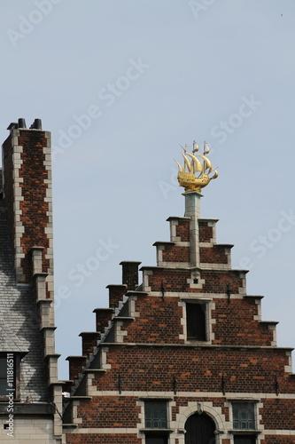 Keuken foto achterwand Antwerpen Historisches Haus in Antwerpen