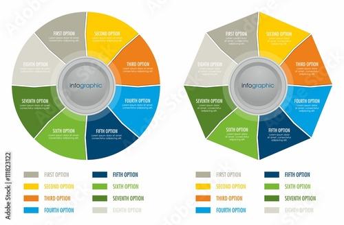Fotografie, Obraz  Kolorowe infografiki dla biznesu