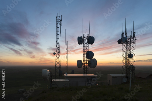 Fotografía  Cell Towers at Sunset