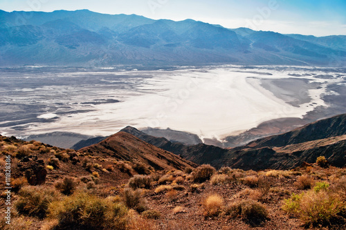 View on landscape of the Death Valley
