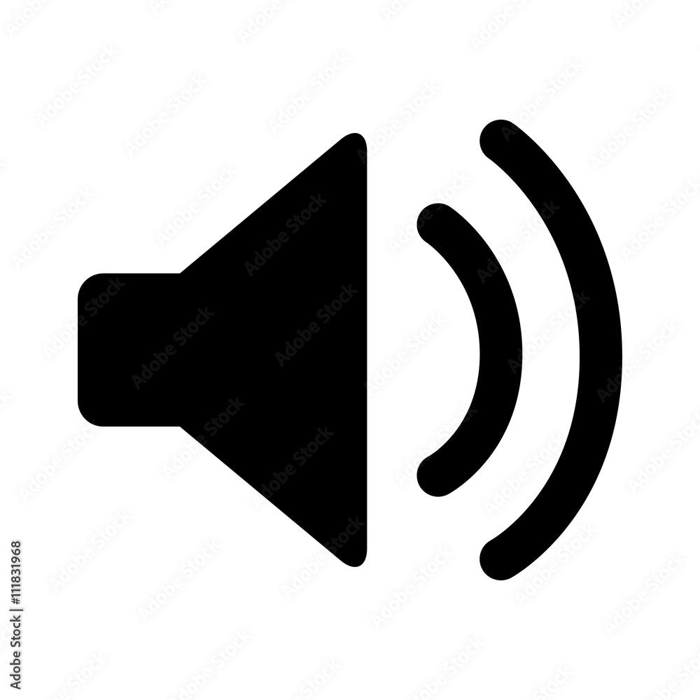 Fototapeta Audio speaker volume on line art icon for apps and websites