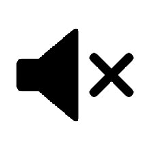 Audio Speaker Mute Flat Icon F...