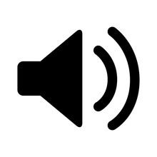 Audio Speaker Volume On Line Art Icon For Apps And Websites