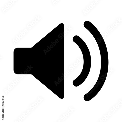 Canvas Print Audio speaker volume on line art icon for apps and websites