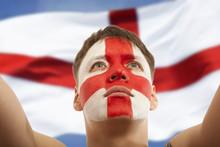 English Fans At The Stadium