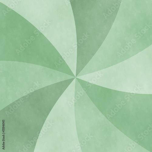 Fotografie, Obraz  アナログ風渦巻き背景イラスト素材 緑色系 正方形・スクエア