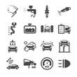 Car parts and car services icon set 2