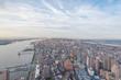 Manhattan Panorama, Blick auf Midtown zur Abenddämmerung