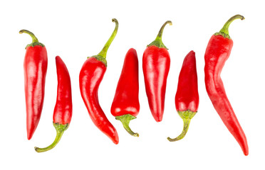 Hot red ripe peppers