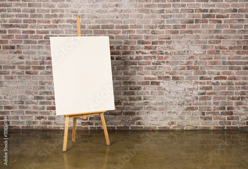 Easel with canvas