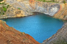 Lake In Old Abandoned Quarry