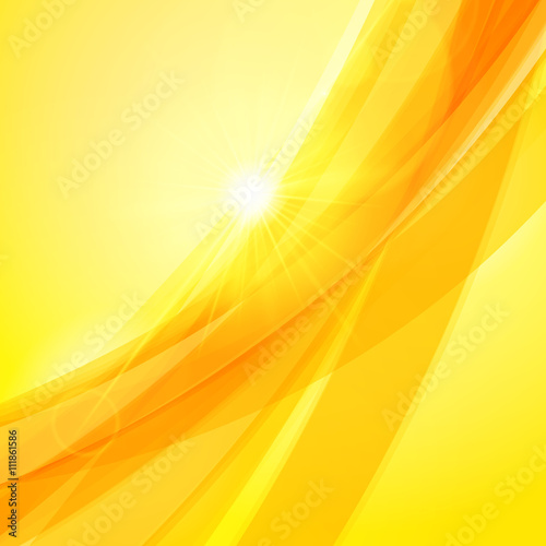 Abstract Orange Yellow Background Vector Illustration