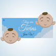 Baby shower design. invitation design. isolated illustration