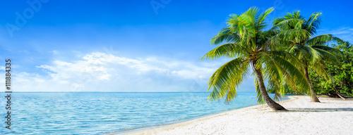 Motiv-Rollo Basic - Strandurlaub Panorama im Sommer