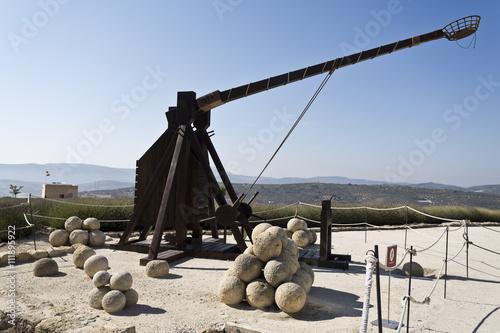 Fotografía  Modelo de una catapulta