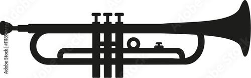 Slika na platnu Trumpet silhouette isolated