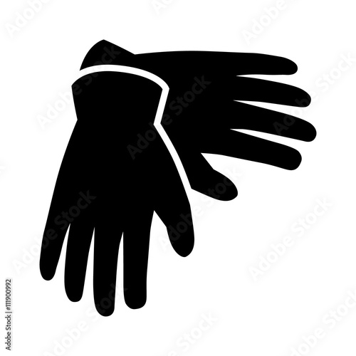 Fotografia, Obraz  A pair of gloves for hand protection flat icon for apps and websites