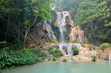 Tat Kuang Si Waterfalls In Luang Prabang, Laos