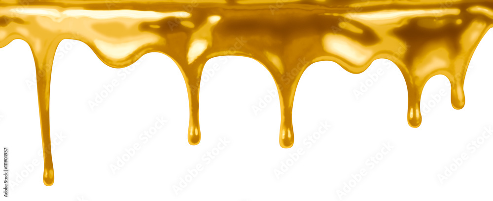Fototapety, obrazy: leaking gold isolated on white
