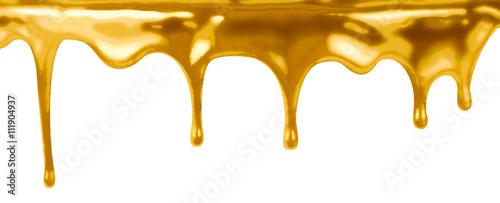 Fotografie, Obraz  leaking gold isolated on white