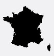 France island map silhouette. Good use for symbol, logo, web icon, mascot, sign, sticker, or any design you want. Easy to use.
