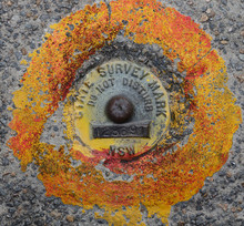 State Survey Marker, NSW, Australia - Spatial Referencing System That Underpins Surveying, Land Information & Mapping Systems In NSW.