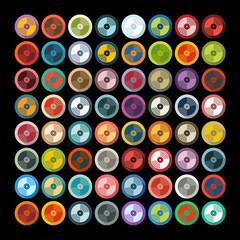 Fototapeta Do dyskoteki Flat design: vinyl record