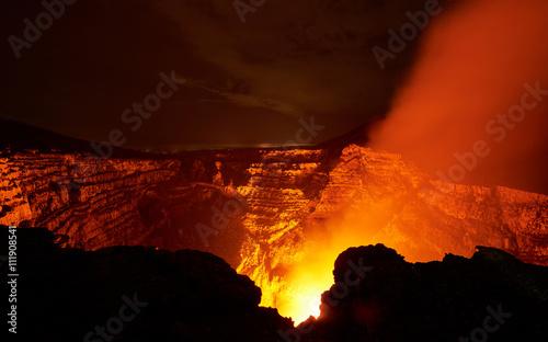 Fotografie, Obraz  wide crater of volcano