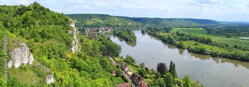 Fotografia  Vue panoramique, sur la seine, Château-Gaillard et les Andelys, Eure,Normandie