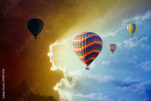 flying-hot-air-balloons-in-stormy-sky