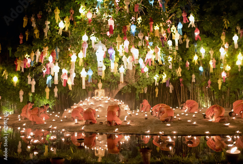 Fotografie, Obraz  The Yi Peng Lantern Festival is one of the most symbolic and most beautiful even