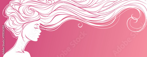 vector-illustration-beautiful-silhouette-of-long-hair-woman-on-pink-background-concept-design-for-beauty-salons-spa-cosmetics-fashion-and-beauty-industry