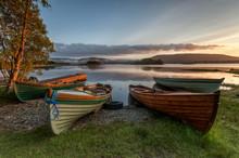 Boats At The Lough Corrib, Cou...