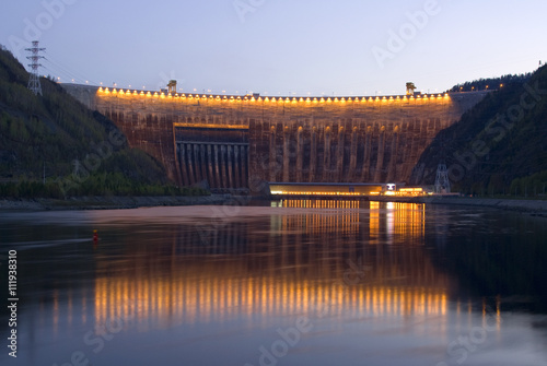Fototapeta Саяно-Шушенская ГЭС obraz