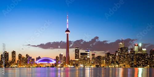 Photo  View of Toronto Canada Cityscape during sunset