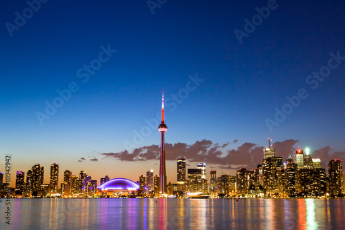 Wall Murals Toronto View of Toronto Canada Cityscape during sunset