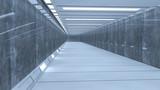 Fototapeta Do przedpokoju - 3d render interior. Futuristic hallway. Interior concept design