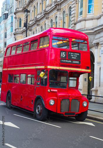 Türaufkleber London roten bus Double decker