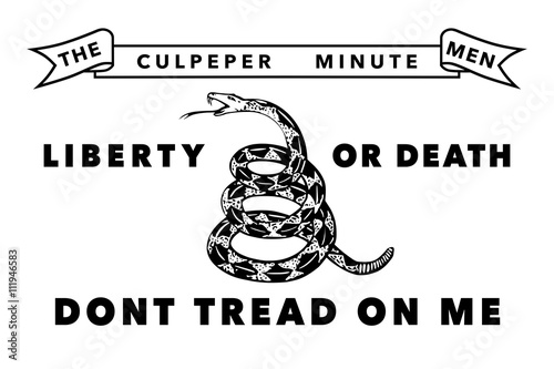 Valokuvatapetti The Culpeper Minutemen flag, Authentic version