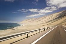 Highway In Chilean Desert Thro...