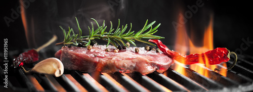 Foto op Plexiglas Grill / Barbecue Steak vom Grill