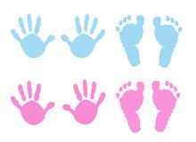 Baby Handprint And Footprint Illustration