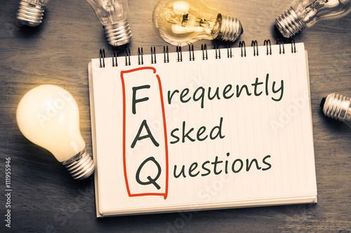 FAQ Wallpaper Mural