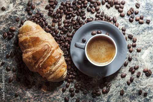 Printed kitchen splashbacks Coffee beans Café et Patisserie