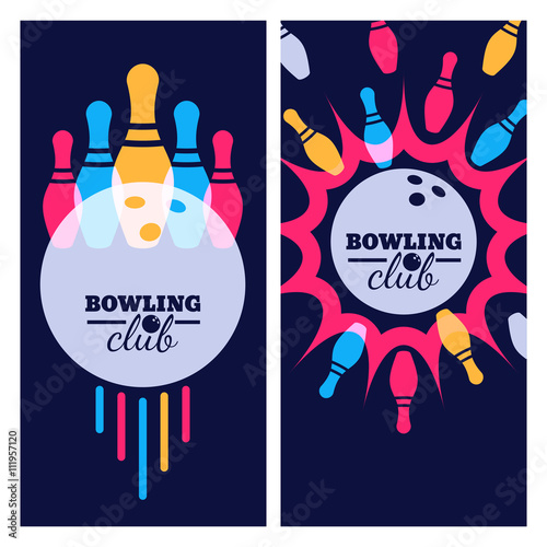 bowling backgrounds icons and elements for banner poster